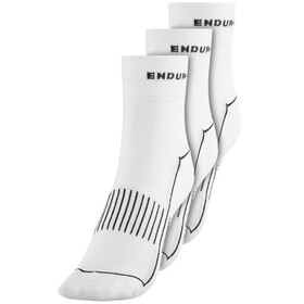 Endura Coolmax Race II Cycling Socks TriplePack white